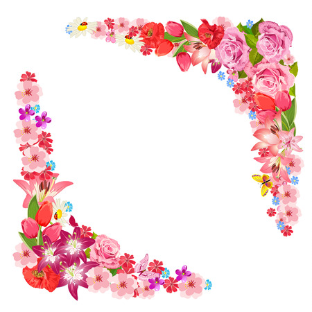 Frame of beauty floral Vector