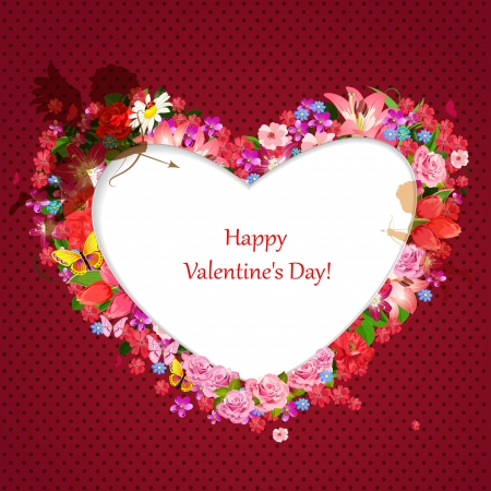 Valentine of lovely flowers Vector