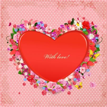 Valentine of lovely flowers Vector