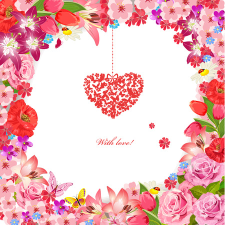 Design greeting cards for Valentines Day Vector