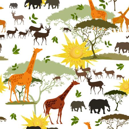 african art: Ethnic African seamless texture Illustration