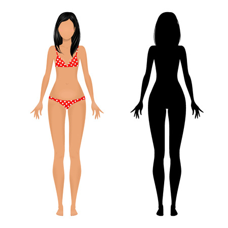 Female body template Vector