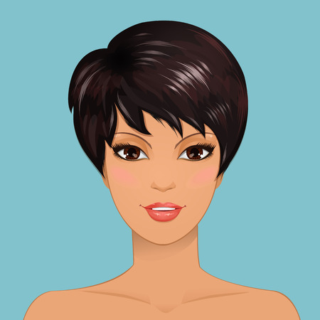 Portrait of a beauty girl Vector