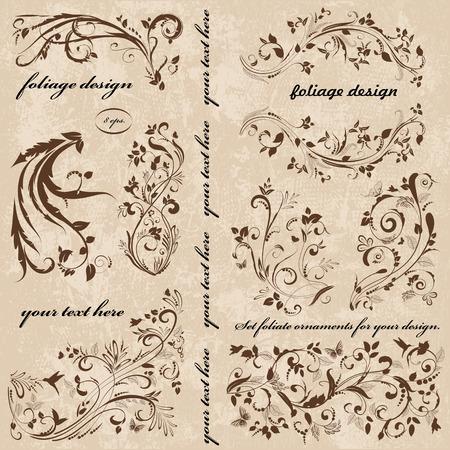 crocket: Set of swirl ornaments for your design.