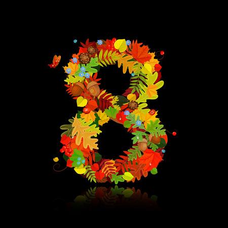 Beautiful autumn leaves. number 8