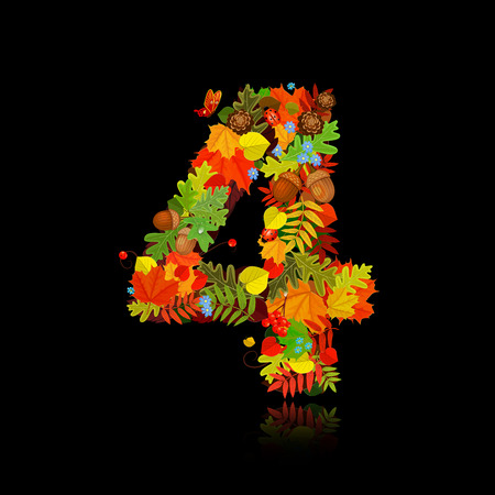 Beautiful autumn leaves. number 4 Vector