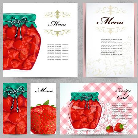 healthy food recipe card  Vector