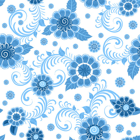 fashion seamless texture with stylized flowers Vector