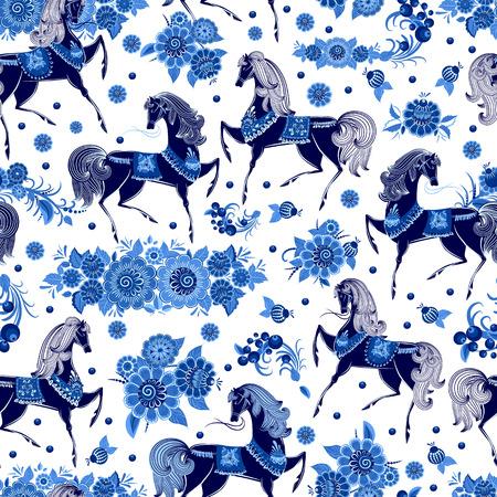 mode naadloze textuur met gestileerde bloemen