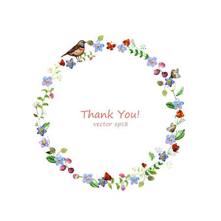 Aquarell Blumen für Ihren Entwurf.