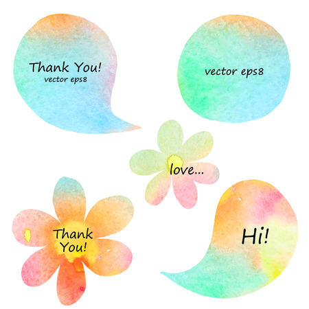 ink spot: collection of watercolor speech bubbles. for you design