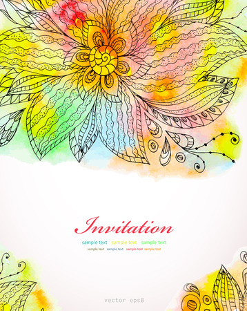 Abstract watercolor pattern.  Vector