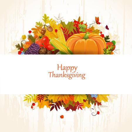 Happy Thanksgiving Day Feier-Flyer, für Sie entwerfen Standard-Bild - 29299018