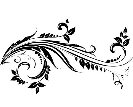 Abstract floral swirl for you design. Vector