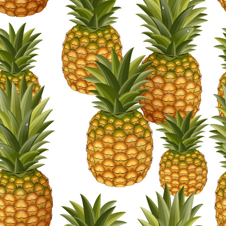 agriculture wallpaper: seamless texture of pineapple Illustration