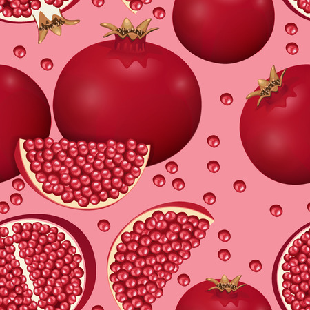 passion fruit: seamless texture of pomegranate