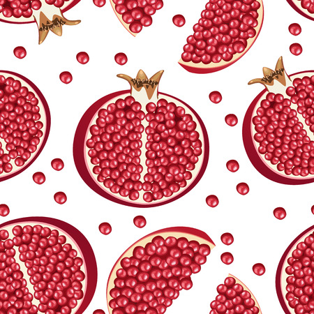 seamless texture: nahtlose Textur der Granatapfel Illustration