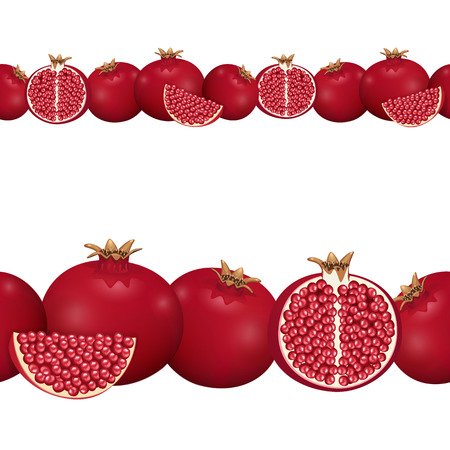 rosh: seamless border of pomegranate   Illustration