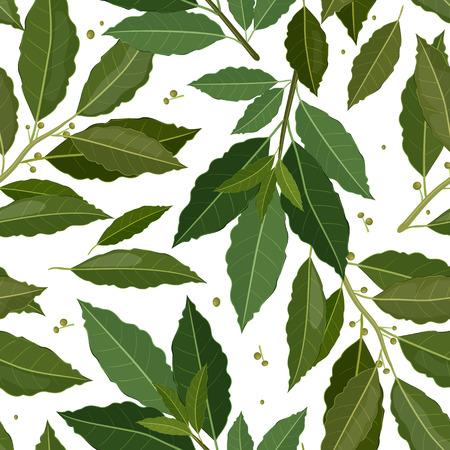 naadloze textuur van laurier Vector Illustratie