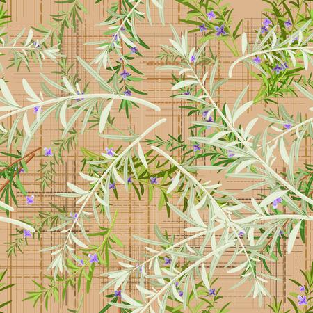 canva: seamless texture of rosemary