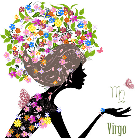 Virgo signo del zodiaco. chica de moda