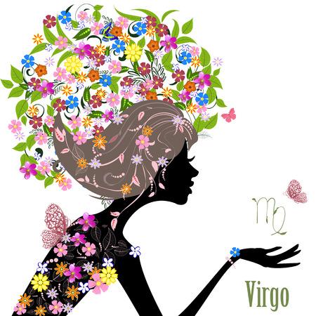 sumer: Zodiac sign virgo. fashion girl Illustration