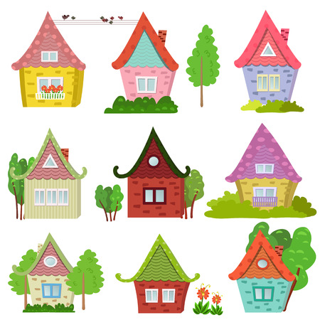 family in front of house: Collection of cute houses