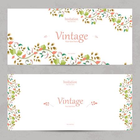 Vintage Blumeneinladungskarten