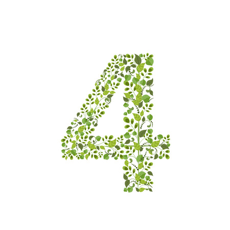 Spring green leaves. eco number 4