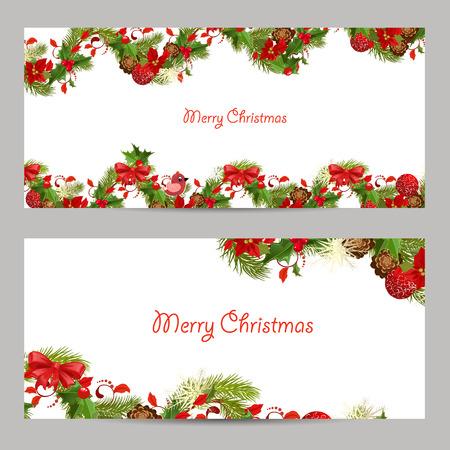 Christmas set Einladungskarten für Ihr Design Standard-Bild - 32703951