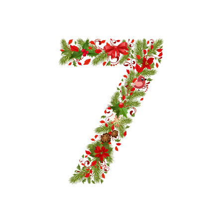 seven years: christmas floral tree number 7
