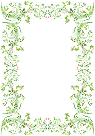 baroque border: vintage frame with butterflies for your design