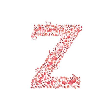 romantic: Romantic floral letter Z