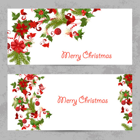 invitation cards with a Christmas pattern for your design Illustration