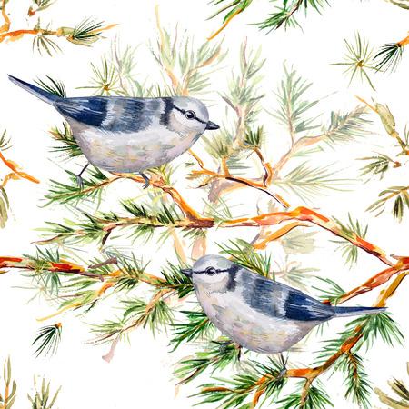christmas seamless texture watercolor photo