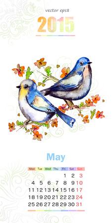 calendar for 2015. may Vector