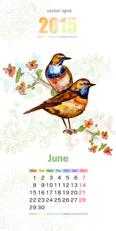 calendar for 2015. june Vector