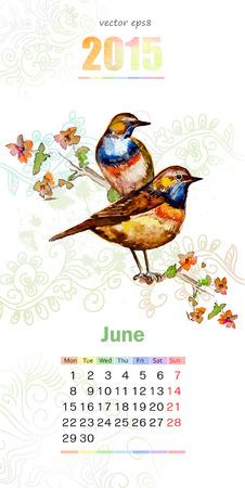 calendar for 2015. june