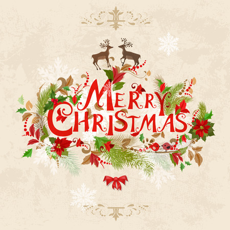 joyeux noel: Carte de Noël Illustration