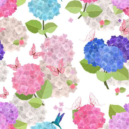 naadloze textuur met kleurrijke bloemen