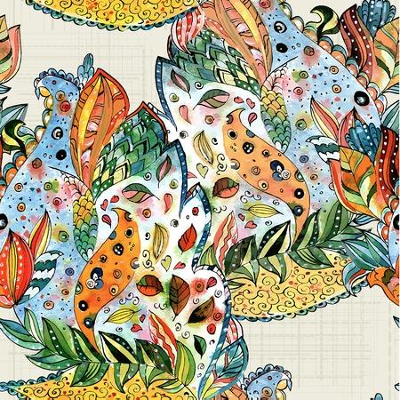 batik: abstract seamless texture watercolor
