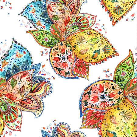 batik: coloré seamless texture aquarelle Illustration