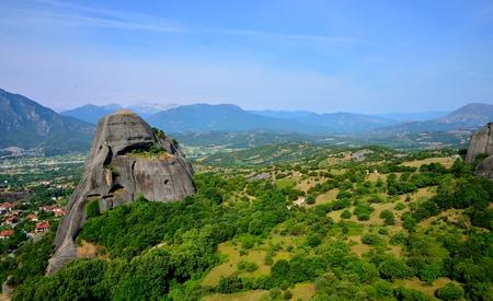 kalampaka: Green valley. Meteora, Greece