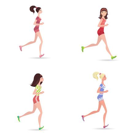 active running girls
