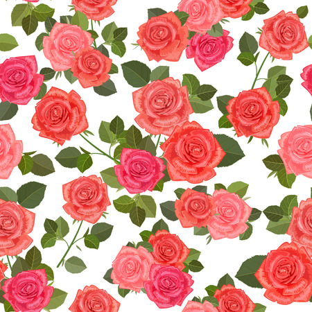 soulful: colorful seamless texture with bouquets of roses