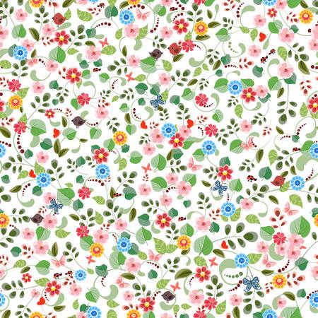 petites fleurs: texture assez transparente avec de minuscules fleurs. Illustration