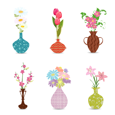 Cute Collection Decorative Vases With Flowers For Your Design
