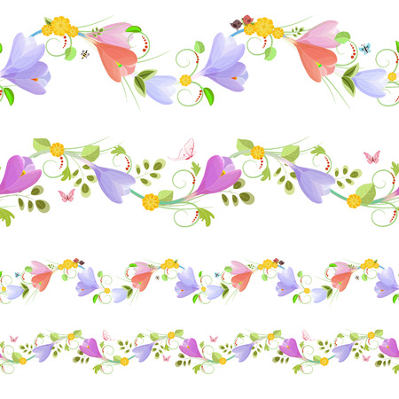 Lovely collection of seamless borders with spring flowers for lovely collection of seamless borders with spring flowers for your design stock vector 58101753 mightylinksfo
