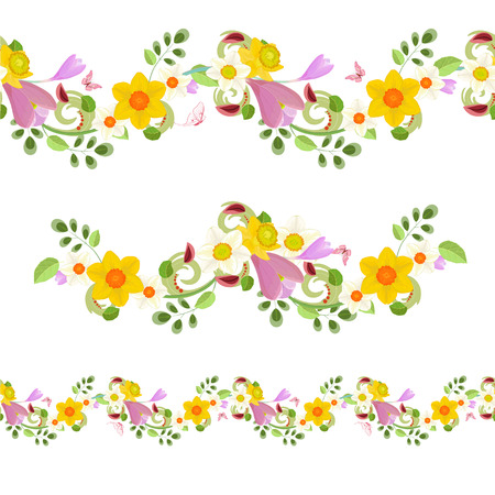 Collection horizontal seamless borders with spring flowers royalty collection horizontal seamless borders with spring flowers stock vector 58085379 mightylinksfo