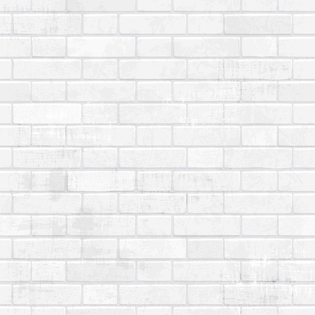 elegancia lamentable pared de ladrillo blanco para su diseño. Ilustración de vector